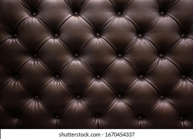 Brown luxury leather sofa textured background