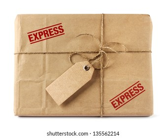 Brown mail package parcel wrap express delivery