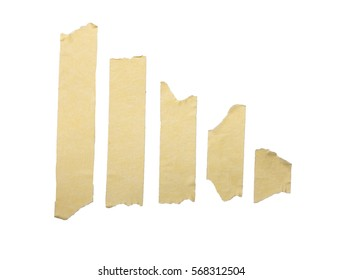 Brown Masking Tape on isolated white background