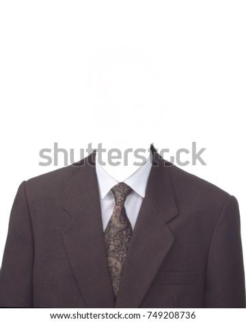 brown men suit brown necktie template stock photo edit now