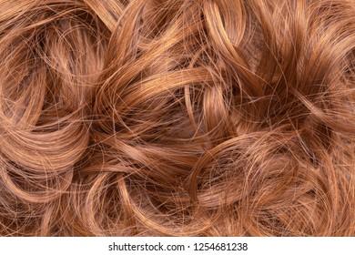 Brown Messy Hair Wig Bun Close Up.