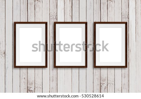 Brown Natural Wooden Frames Hanging On Stock Photo (Edit Now ...