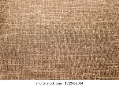 Brown Nature sackcloth or burlap texture background - image. Horizontal frame