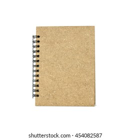 brown note book isolated on white