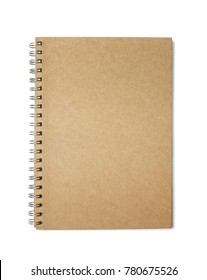 Brown notebook paper on a white background