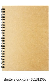 Brown notebook with ring binder