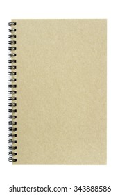 Brown notepad on isolated white.