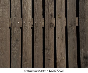 brown old wooden fence