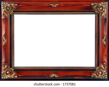 Brown Ornate Frame
