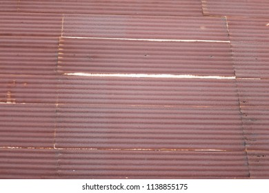 brown oxide of metal sheet roof