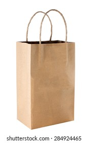 Brown package isolated on white background,Paper bags package