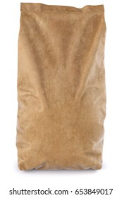 Brown paper bag. isolated on white background. 3D illustration.
