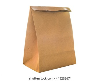Brown paper bag packaging for environment ,isolated