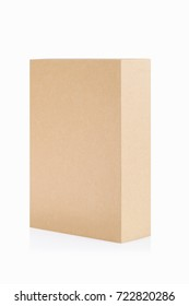 brown paper box isolated on white with clipping path