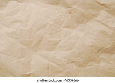 Brown paper decoration