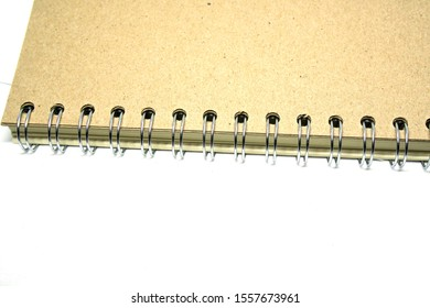 Brown Paper Note Books ridge with coil