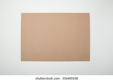 Brown Paper on White Background texture