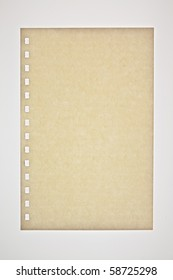 Brown paper on white background.
