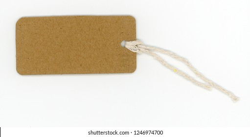 brown paper tag label for product information