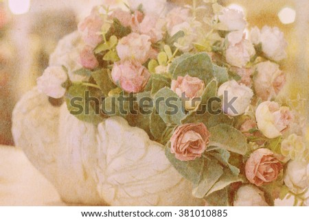 Brown Paper Texture Artificial Flowers Made Stock Photo Edit Now