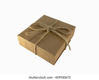 Brown Parcel on White Background