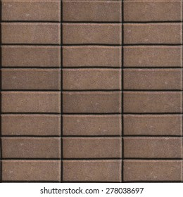 Brown Paving Slabs Laid out Rectangles Horizontally. Seamless Tileable Texture.