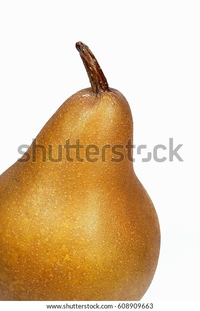 Brown Pear Uta Pyrus Uta Isolated Stock Photo (Edit Now) 608909663