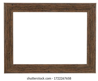 Brown photo frame. Isolated background.