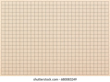Brown plotting graph grid paper background