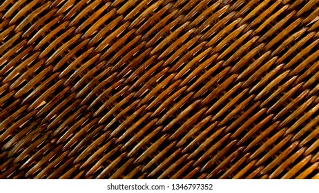 brown Rattan weave  pattern  abstarct texture background