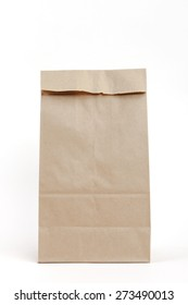 Brown recyclable paper bag