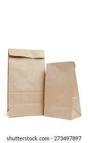 Brown recyclable paper bags