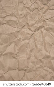 Brown recycle paper crumpled background texture