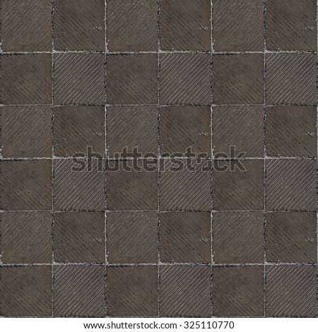 Brown Ribbed Tile On Floor Wall Stock Photo Edit Now 325110770