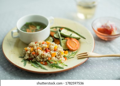 Brown rice one plate dish