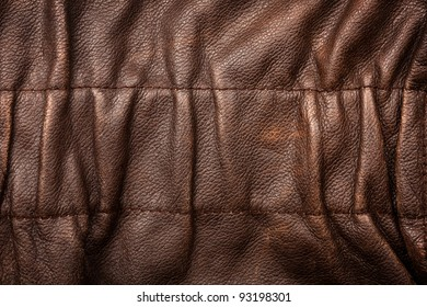 Brown ruffled leather texture background
