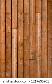Brown rustic wooden texture background. Facade of a house, copy space. Wooden texture background Wall of blockhouse