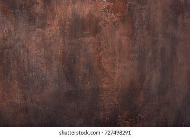 Brown rusty texture of the wall for background