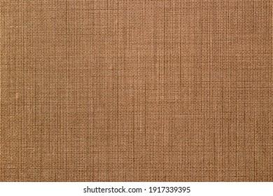 Brown sack bag texture background. Cotton material backdrop. Vintage decoration wallpaper