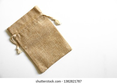 Brown sackcloth on a white background