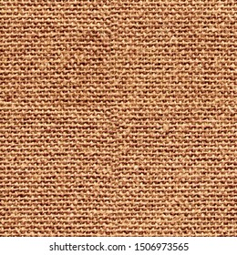 Brown seamless canvas fabric for background, seamless linen texture background