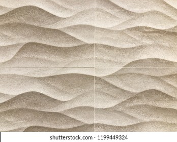 Brown seamless texture. Wavy background. Interior wall decoration. 3D interior wall panel pattern. white background of abstract waves.