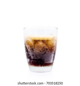 Brown Soft drink in Glass on white background