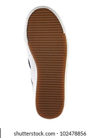 Brown sole of a shoe on a white background isolated