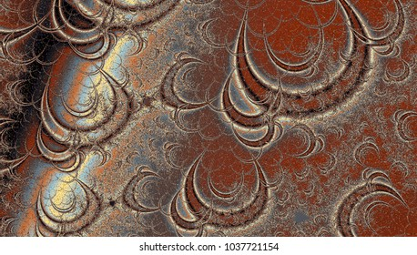 Brown Spiral Wave Fractal Swirl, pretty background for card, banner or wedding invitation