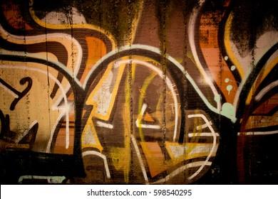 Brown sprayed grunge background, graphitti