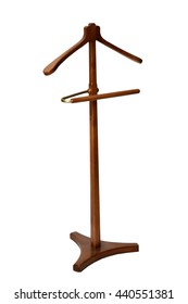 brown standing bedside hanger for shirts