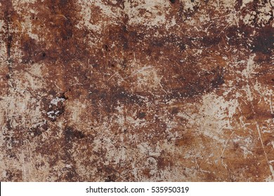 brown steel plate texture or old rust scratched metal background