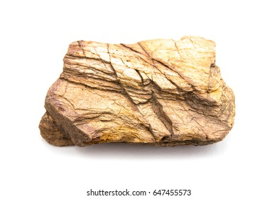 Brown stone on white background
