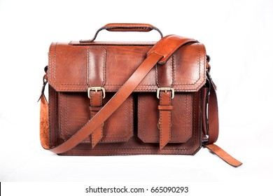 Brown stylish business refined briefcase for business papers